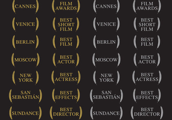 Winners And Film Awards - Free vector #317679