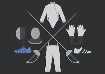 Fencing The Sport Vector - Free vector #326579