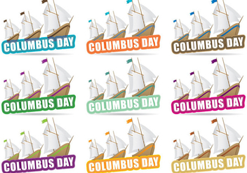 Columbus Day Title - бесплатный vector #326599