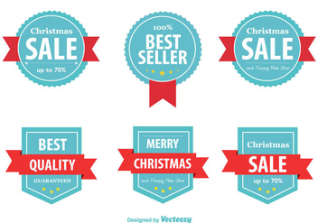 Best Seller Christmas Labels - vector #326669 gratis