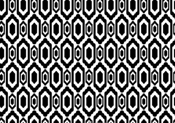 Ethnic Black And White Pattern - vector gratuit #326679