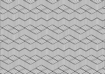 Black And White Line Pattern - vector gratuit #326689