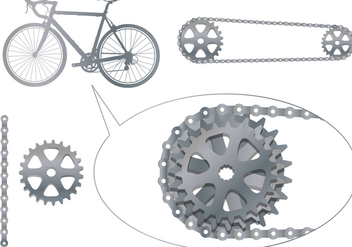 Bike Sprocket Vectors - vector gratuit #326739