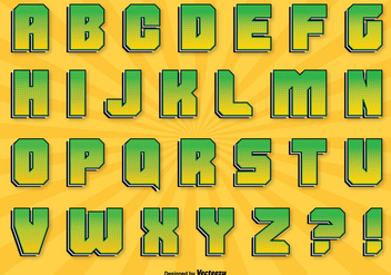 Comic Style Alphabet Set - vector gratuit #326749