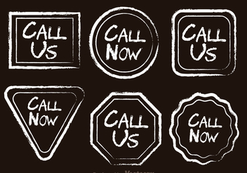 Call Now Chalk Drawn Icons - бесплатный vector #326759