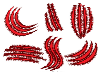 Red Blood Claws Ripping - Free vector #326769