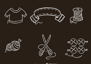 Knitting Clothes Icons Vectors - Free vector #326779
