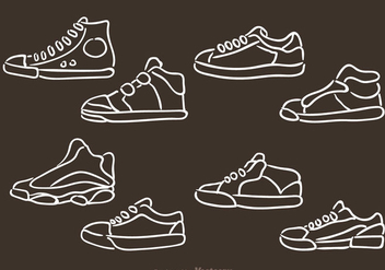 Vector Man Shoes Icons - Free vector #326809