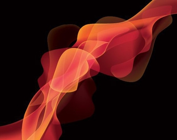 Fluorescent Smoke Waves Background - vector gratuit #326829