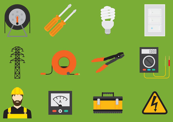 Electrician Icon - Free vector #327049