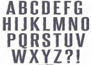 Ink Stamp Style Retro Alphabet Set - Free vector #327069