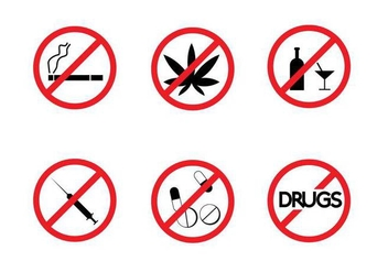 Free No Drugs Signs Vector - vector gratuit #327079