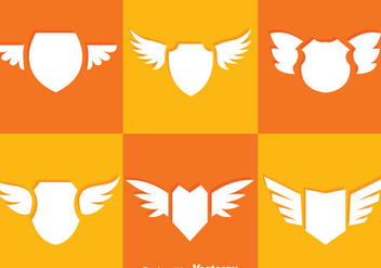 Shield And Wings Icons - Kostenloses vector #327109