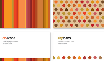 Marbles & Stripes Business Card - Free vector #327249