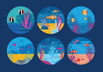 Underwater Background Vector - бесплатный vector #327399
