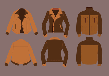 Leather Jacket Vectors - vector gratuit #327419