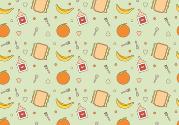 Free School Lunch Vector Pattern #2 - vector gratuit #327459