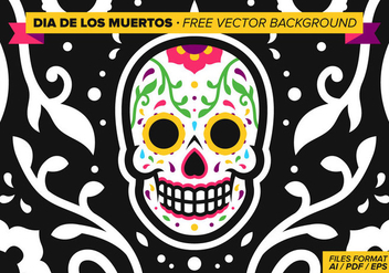 Dia De Los Muertos Free Vector Background - vector gratuit #327469