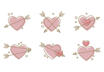 Free Heart Vector Icons #3 - бесплатный vector #327489
