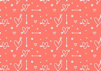 Free Heart Vector Pattern #3 - Kostenloses vector #327499