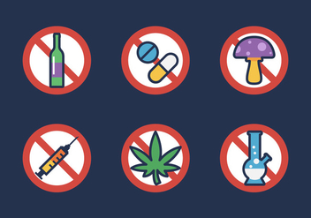 Vector No Drugs Icon - бесплатный vector #327579