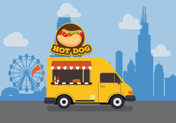 Vector Hot Dog Truck - vector gratuit #327629