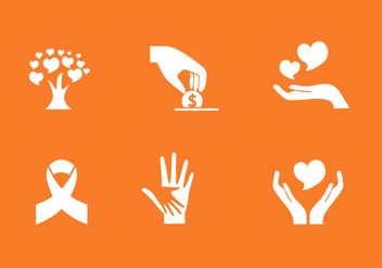Vector Donation Icon Set - vector gratuit #327649