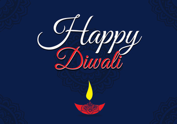Happy Diwali Vector - vector gratuit #327689