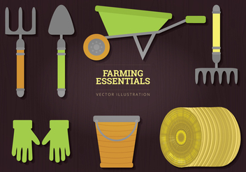 Farming Essentials Vector Illustration - vector gratuit #327909