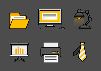 Vector Office Icon Set - vector gratuit #327959