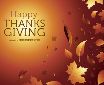 Thanks Giving autumn graphic - Free vector #328019