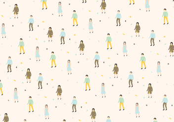 Man and Woman Pattern Vector - vector #328229 gratis
