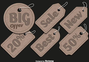 Cardboard sale tags - vector gratuit #328239