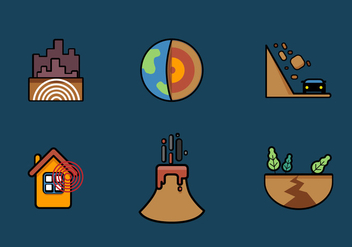 Vector Earthquake Icon Set - Free vector #328329