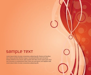 Red Abstract Waves Bubbles Background - vector gratuit #328349
