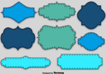 Blue and green blank labels - vector gratuit #328789