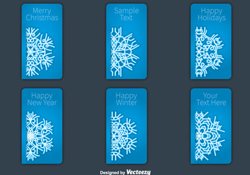 Christmas snowflakes card vectors - бесплатный vector #328819