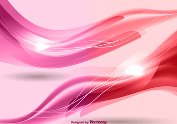 Pink waves background vector - Free vector #328829