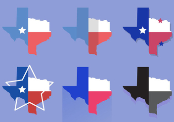 Texas Map Vector Icons #4 - vector gratuit #328849