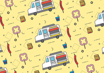 Free Foodtruck Vector Patterns #3 - Kostenloses vector #328869