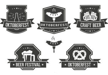 Oktoberfest Label Set - Free vector #328889