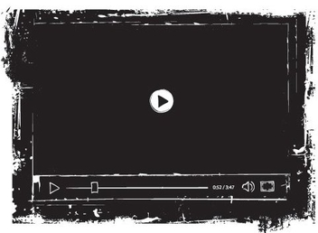 Grungy Black Media Player - бесплатный vector #328949