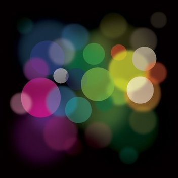 Colorful Minimal Bokeh Light Background - Free vector #328959