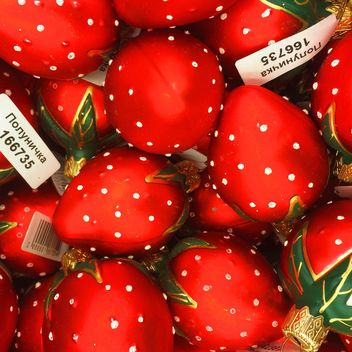 strawberry Christmas toys background - image gratuit #329249