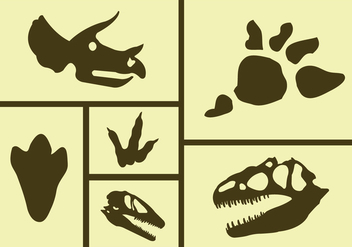 Vector Set of Dinosaur Icons - vector gratuit #329319