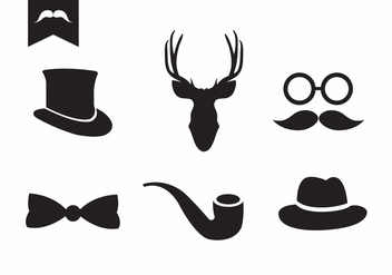 Vector Set of Vintage Accessories - vector gratuit #329349