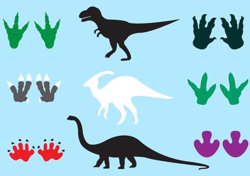 Dinosaur Footprints in Vector - vector gratuit #329369