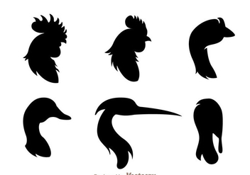 Fowl Head Silhouette - Free vector #329389