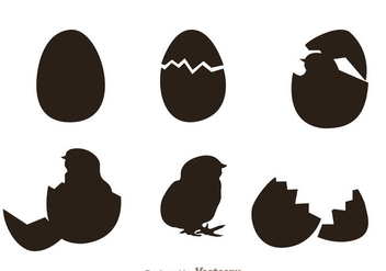 Chick Silhouette Vectors - Free vector #329399