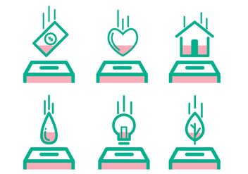 Paid Icon Set - Free vector #329469